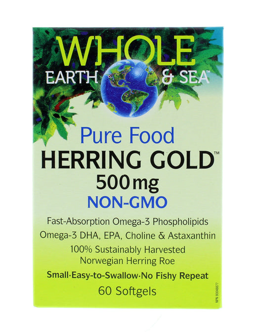 Whole Earth and Sea Herring Gold 500 mg 60 Softgels