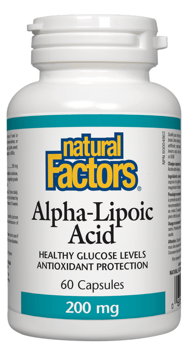 Natural Factors Alpha Lipoic Acid 200 mg