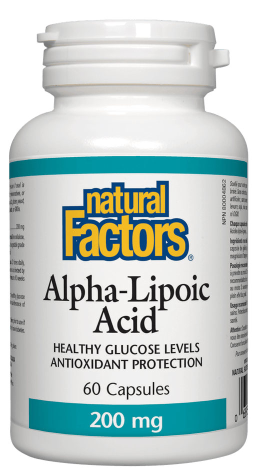 Natural Factors Alpha Lipoic Acid 200 mg 60 Capsules