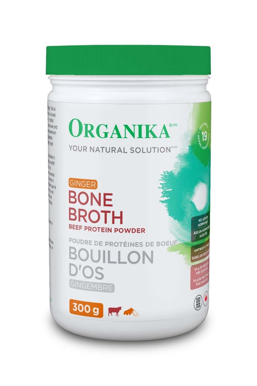 Organika Bone Broth Beef Protein Powder Ginger 300 g