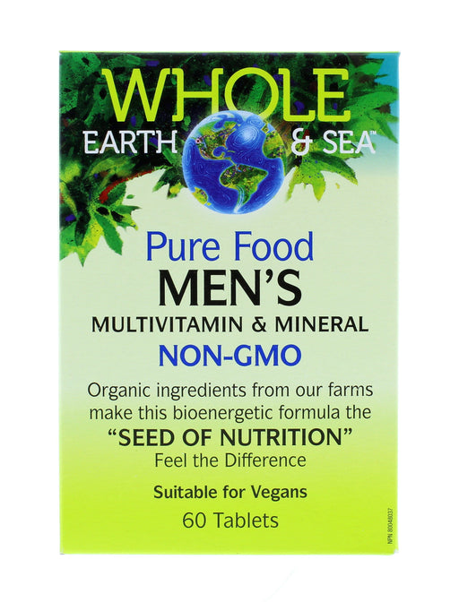 Whole Earth and Sea Pure Food Men's Multivitamin and Mineral NON-GMO