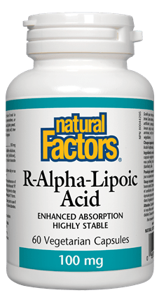 Natural Factors R-Lipoic Acid 100mg 60 Capsules