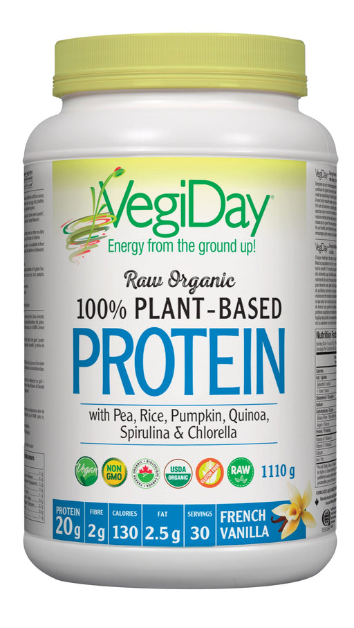VegiDay Raw Organic Plant Based Protein French Vanilla