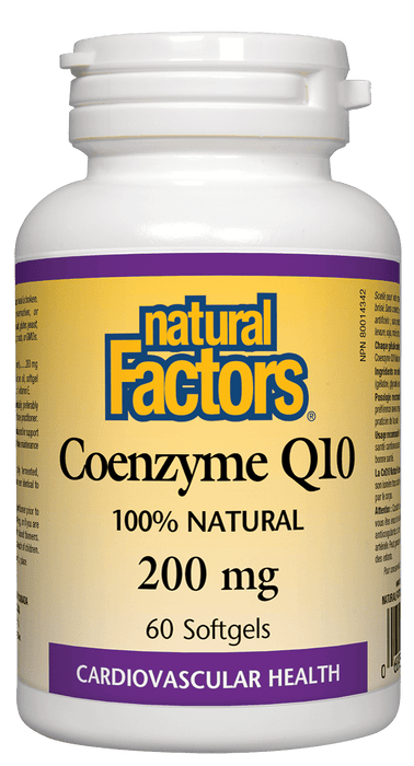 Natural Factors Coenzyme Q10 200 mg 60 Softgels