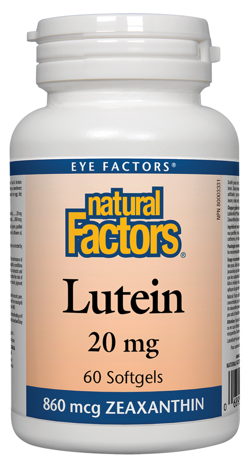 Natural Factors Lutein 20 mg 60 Softgels