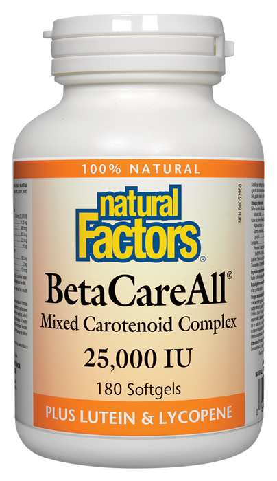 Natural Factors BetaCareAll 25,000 IU 180 Softgels