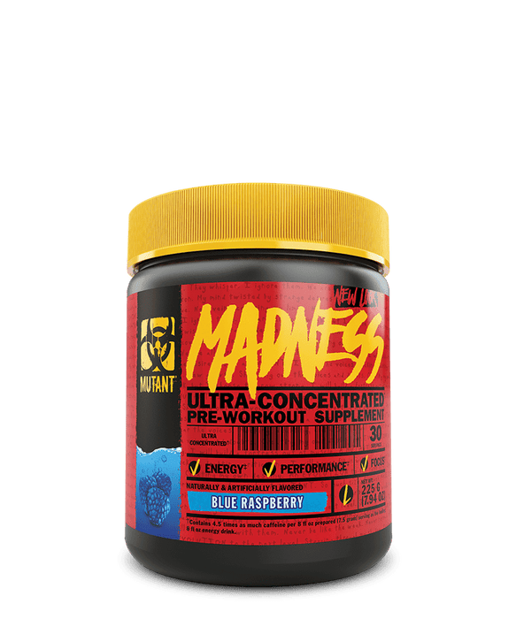 Mutant Madness Pre-Workout Supplement 225 g – Blue Raspberry
