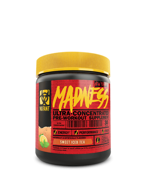 Mutant Madness Pre-Workout Supplement 225 g   Sweet Iced Tea