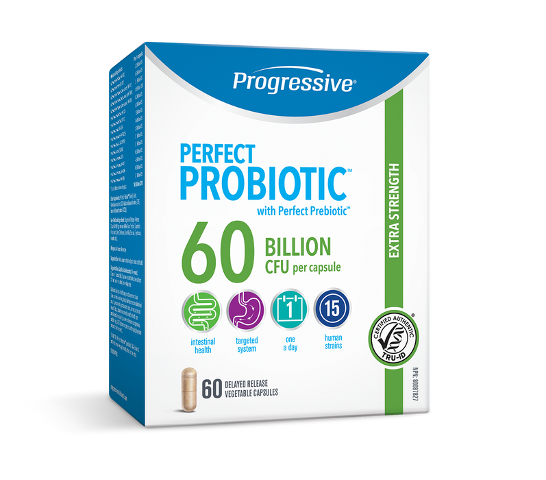 Progressive Perfect Probiotic Extra Strength 60 Billion CFU 60 Capsules