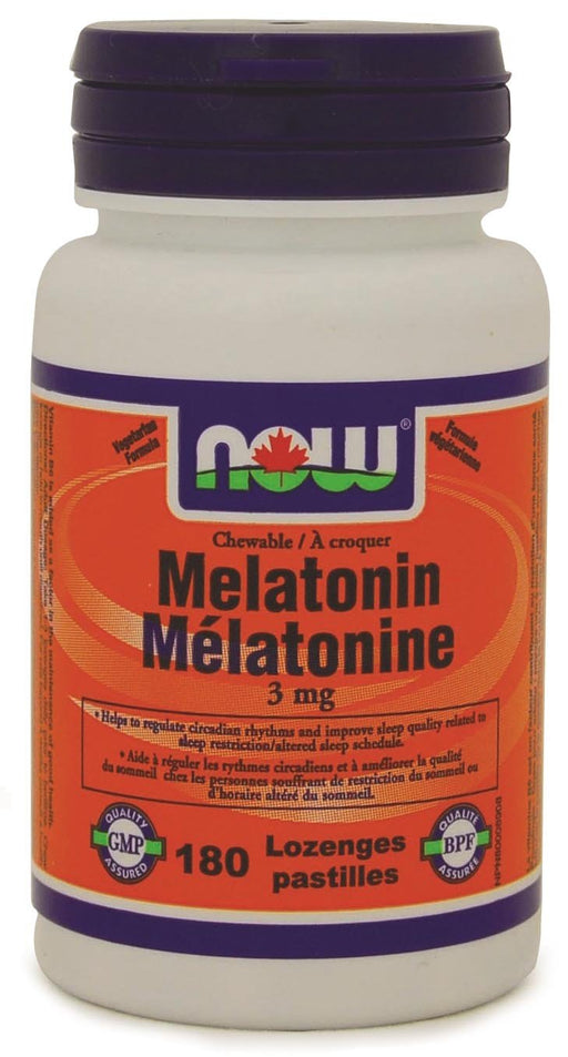 NOW Melatonin 3 mg + B-6 Peppermint Chew 180's
