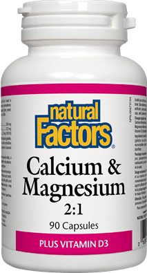 Natural Factors Calcium & Magnesium Plus Vitamin D3 90 Capsules