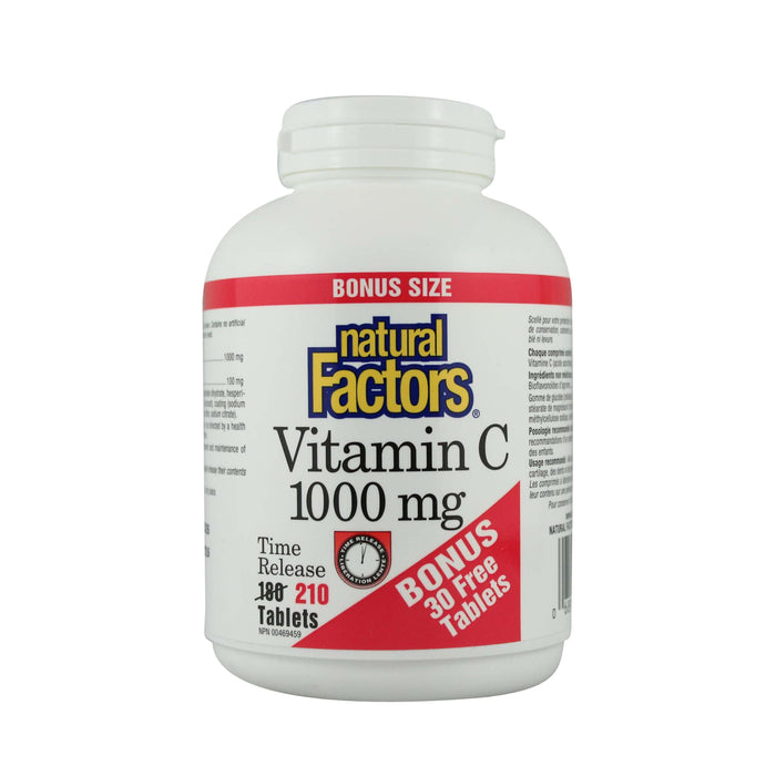 Natural Factors Vitamin C 1000 mg Time Release Bonus Size
