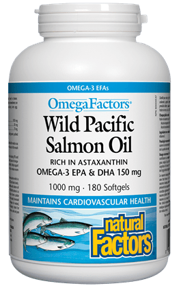 Natural Factors OmegaFactors Wild Pacific Salmon Oil 1000 mg
