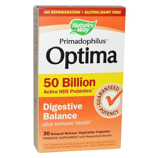 Nature's Way Primadophilus Optima High Potency 50 Billion No Refrigeration Required
