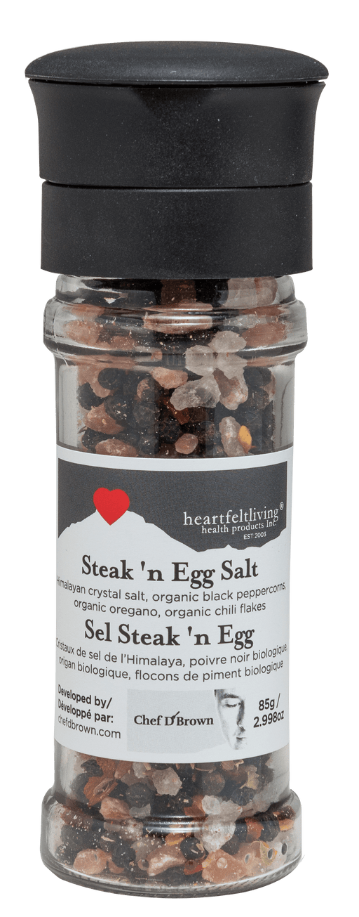 Heartfelt Living Himalayan Steak'n Egg Salt Grinder