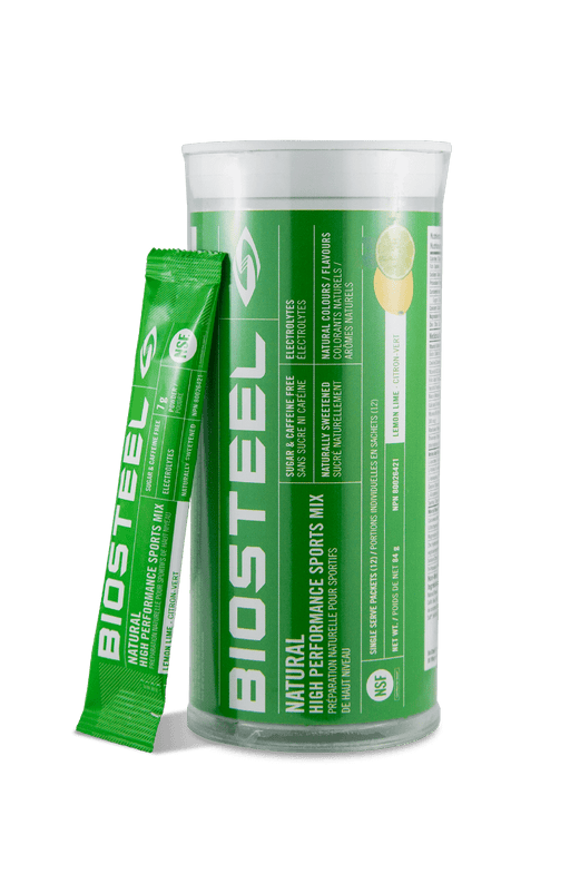 BioSteel Natural High Performance Sports Mix Tube Lemon Lime 12 Single Serve Packets