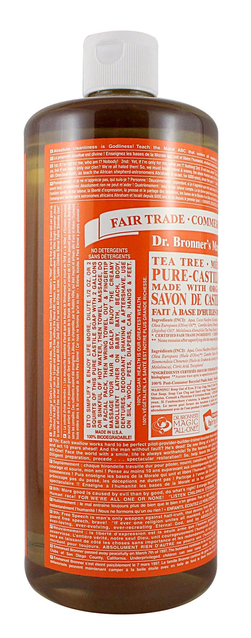 Dr. Bronner's Tea Tree Liquid Soap
