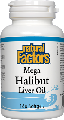 Natural Factors Mega Halibut Liver Oil 180 Softgels