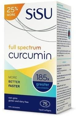 Sisu Full Spectrum Curcumin 75 Softgels Bonus Size