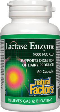 Natural Factors Lactase Enzyme 60 Capsules