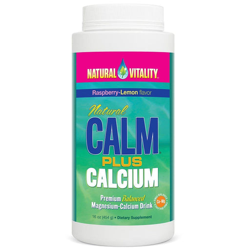 Natural Calm plus Calcium - Organic Raspberry-Lemon Flavour