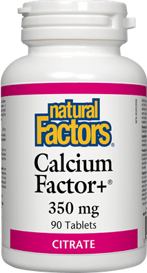 Natural Factors Calcium Factor+ 350 mg Citrate 90 Tablets