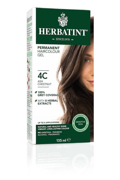 Herbatint Permanent Herbal Haircolor Gel - 4C Ash Chestnut