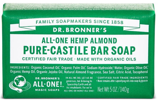 Dr. Bronner's Magic Soap Almond Castile Bar Soap