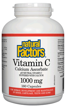 Natural Factors Vitamin C - Calcium Ascorbate 1000 mg 180 Capsules