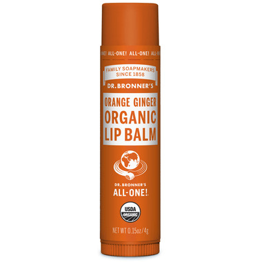 Dr. Bronner Orange Ginger Organic Lip Balm