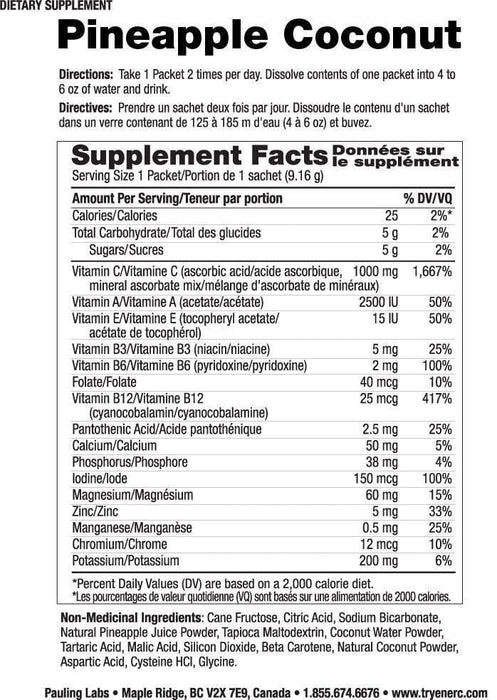 Ener-C 1000 mg Vitamin C Pineapple Coconut