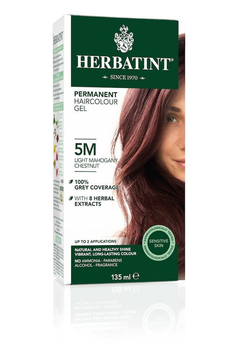 Herbatint Permanent Herbal Haircolor Gel - 5M Light Mahogany Chestnut