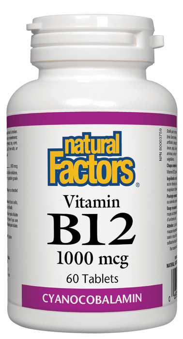 Natural Factors B12 - 1000 mcg 60 Tablets