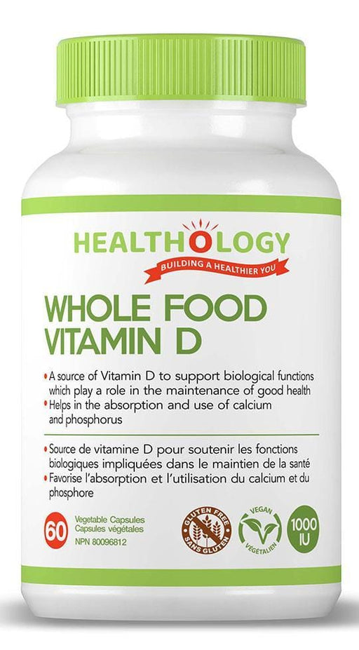 Healthology Whole Food Vitamin D 1000 IU 60 V-Caps