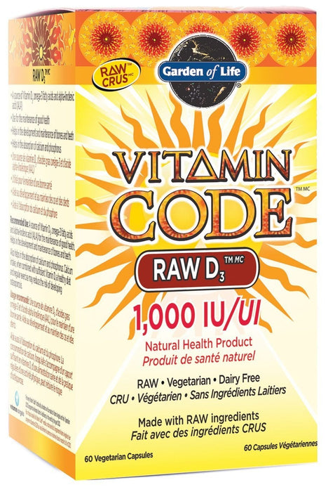 Garden of Life Vitamin Code - RAW D3 1000 IU