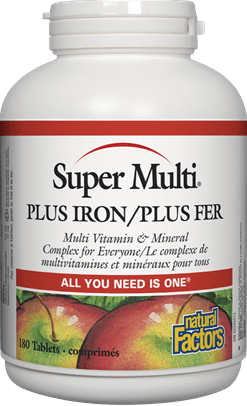 Natural Factors Super Multi Plus Iron