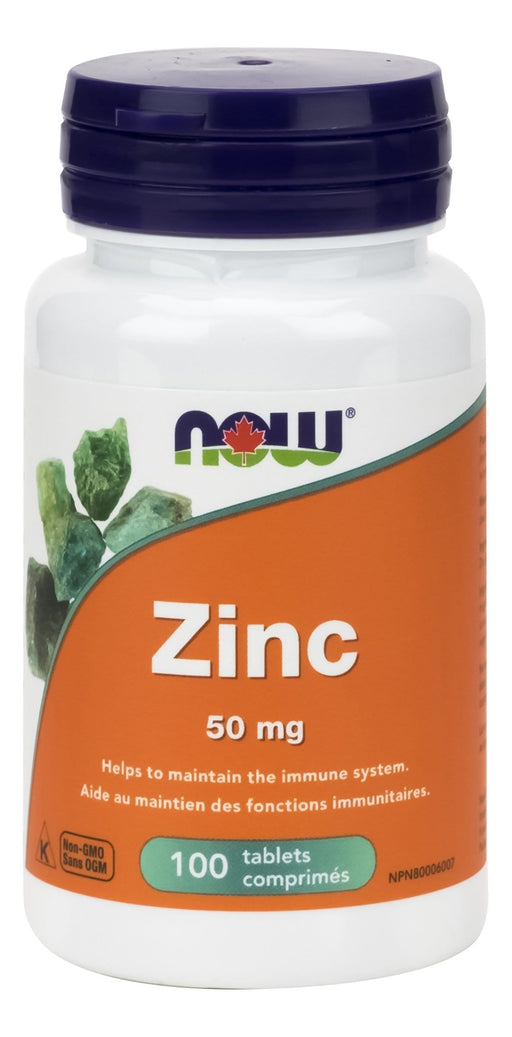 NOW Zinc 50mg 100 Tablets