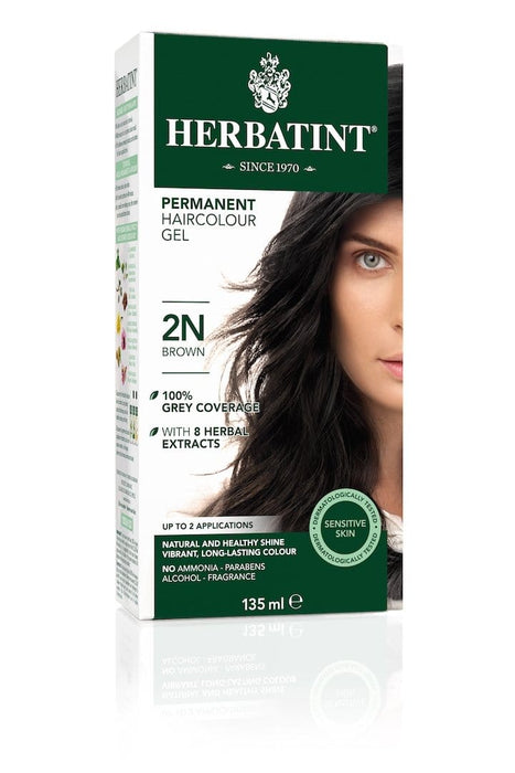 Herbatint Permanent Herbal Haircolor Gel - 2N Brown