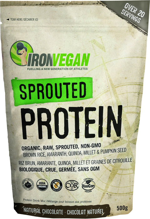 Iron Vegan - Sprouted Protein Natural Chocolate