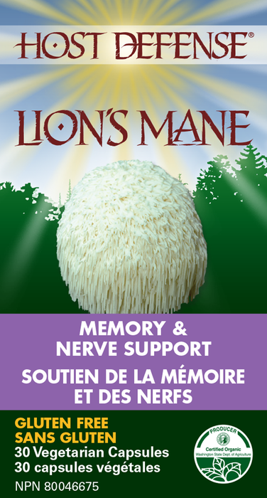 Host Defense Lion's Mane - Memory & Nerve Support