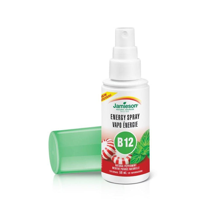 Jamieson Energy Spray Vitamin B12 Natural Peppermint 58 ml (Short Dated)
