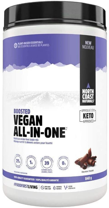 North Coast Naturals Boosted Vegan All In One 840 g - Chocolate