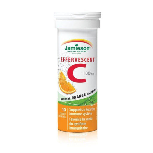 Jamieson Effervescent C Natural Orange 1000 mg 10 Tablets