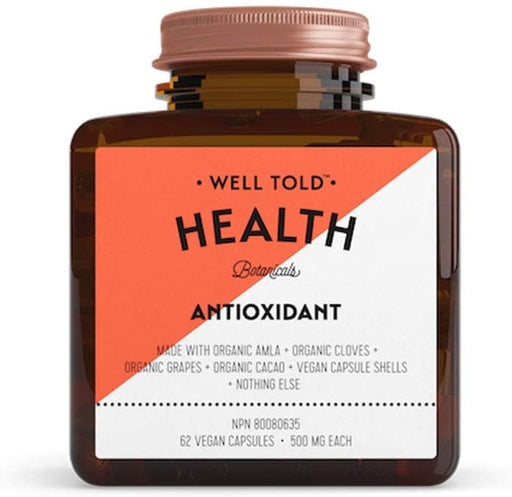 Well Told Health Antioxidant 500 mg 62 V-Caps