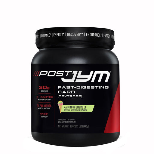 JYM® POST JYM Fast-Digesting Carb 993 g 30 Servings - Rainbow Sherbet (Short Dated)