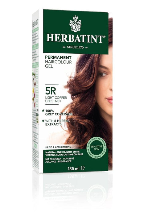 Herbatint Permanent Herbal Haircolor Gel - 5R Light Copper Chestnut