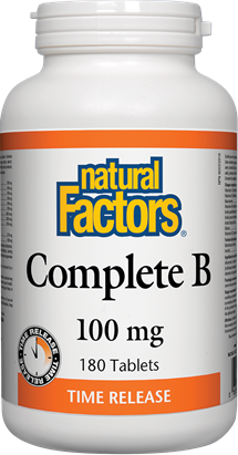 Natural Factors Complete B 100 mg Time Release 180 Tablets
