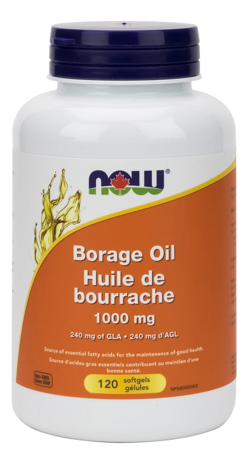 NOW Borage Oil 1000mg (240mg GLA) 120 Softgels