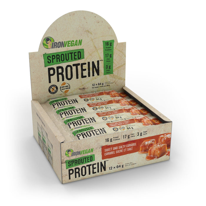 Iron Vegan Sprouted Protein Bar Sweet and Salty Caramel