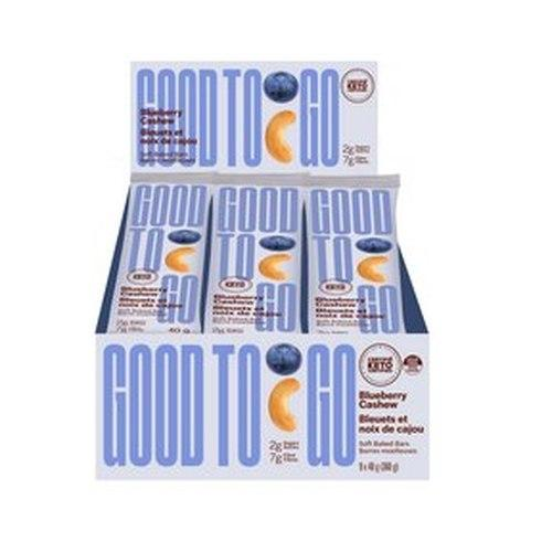 GoodTo Go Blueberry Cashew Keto Bars 9x40 g